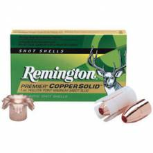 REMINGTON MAGNUM PREMIER COPPER SOLID SABOT HOLLOW POINT SLUGS 12/76 (PR12MCS)