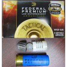 FEDERAL TACTICAL 12/70 TRUBALL HOLLOW POINT RIFLED SLUG -1OZ(LEB127RS)