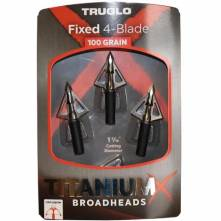 TRUGLO TITANIUM FIXED 4-BLADE (3pcs) 100 GRAIN