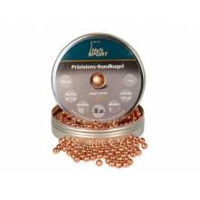 H & N ROUNDBALL COOPERPLATED .177/500 (7,7 grains)