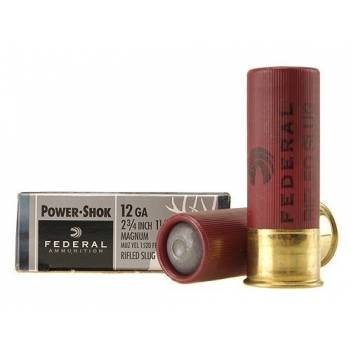 FEDERAL POWER-SHOK 12/70 RIFLED SLUG HOLLOW POINT 1-1/4OZ(F130RS)