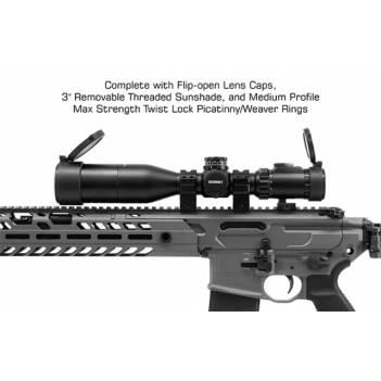 UTG OP3 3-12 X 44 30mm Compact Scope, AO, IE, Glass UMOA (OP3-GM3124UMOA)